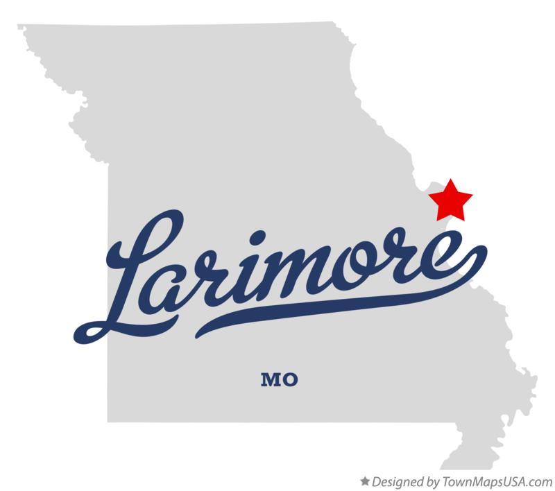 Map of Larimore Missouri MO