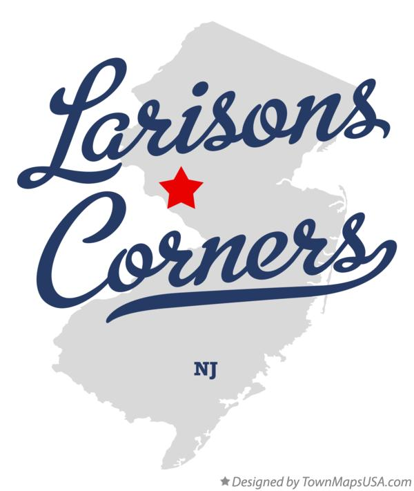 Map of Larisons Corners New Jersey NJ