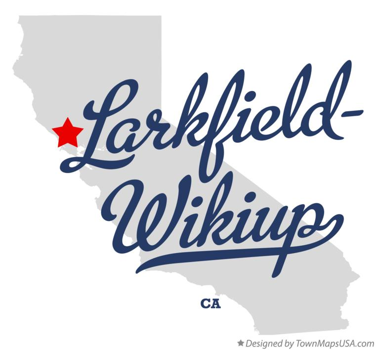 Map of Larkfield-Wikiup California CA