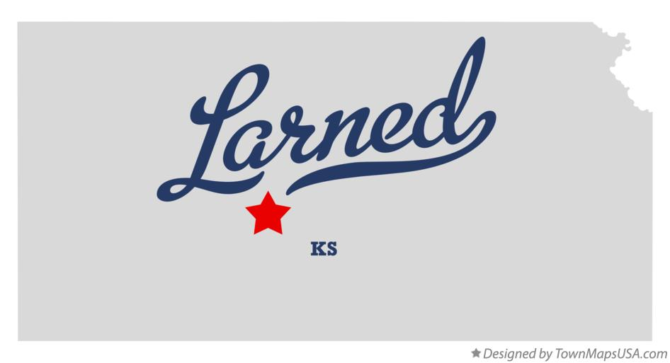 Map of Larned Kansas KS