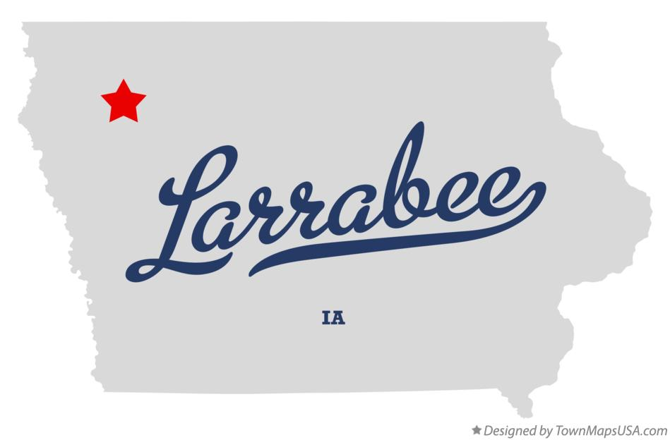 Map of Larrabee Iowa IA
