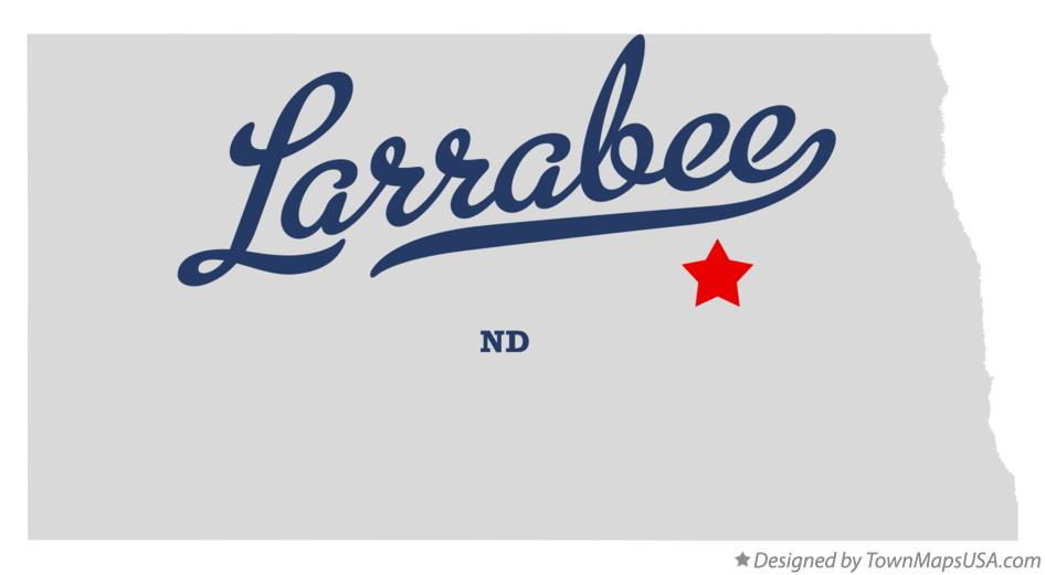 Map of Larrabee North Dakota ND