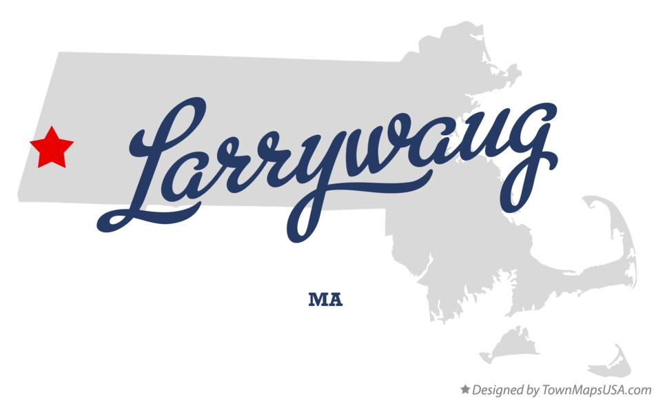 Map of Larrywaug Massachusetts MA