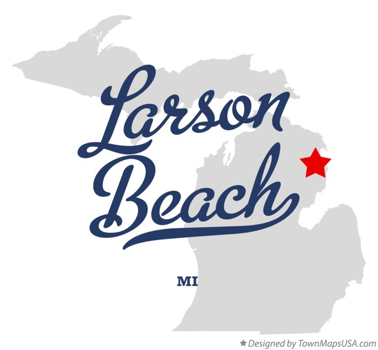 Map of Larson Beach Michigan MI
