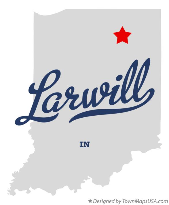 Map of Larwill Indiana IN