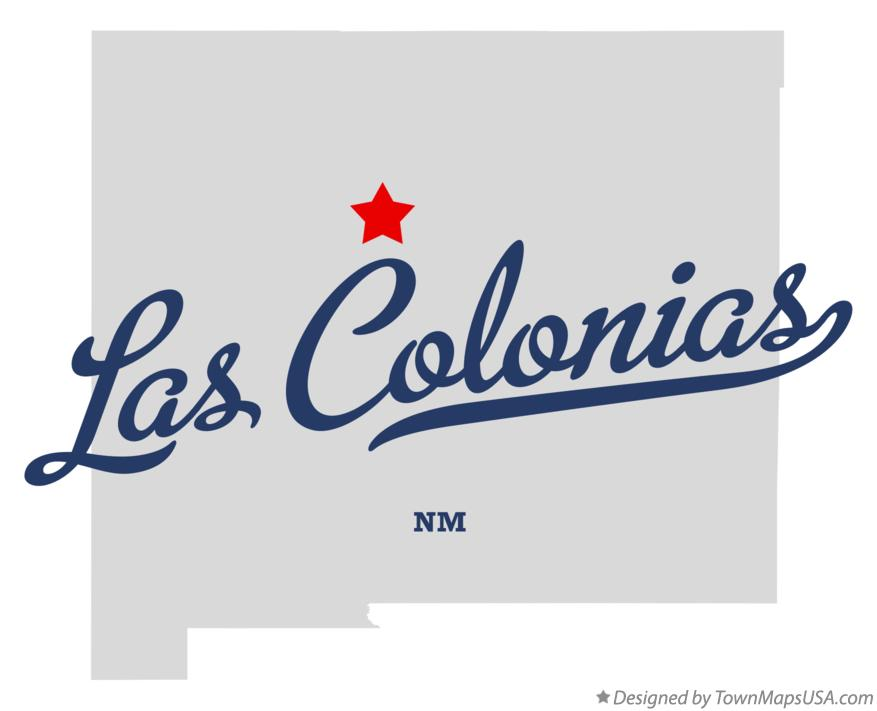 Map of Las Colonias New Mexico NM