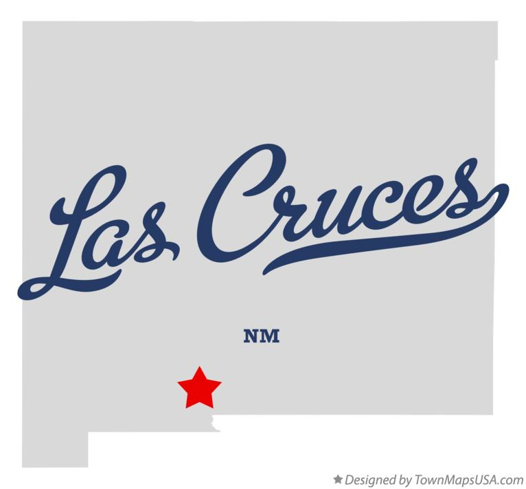 Map of Las Cruces New Mexico NM