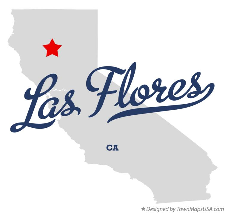 Map of Las Flores California CA