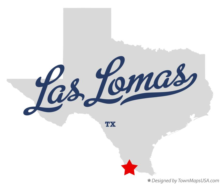 Map of Las Lomas Texas TX