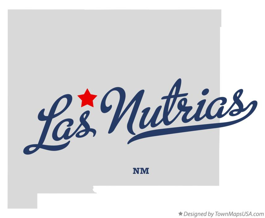 Map of Las Nutrias New Mexico NM