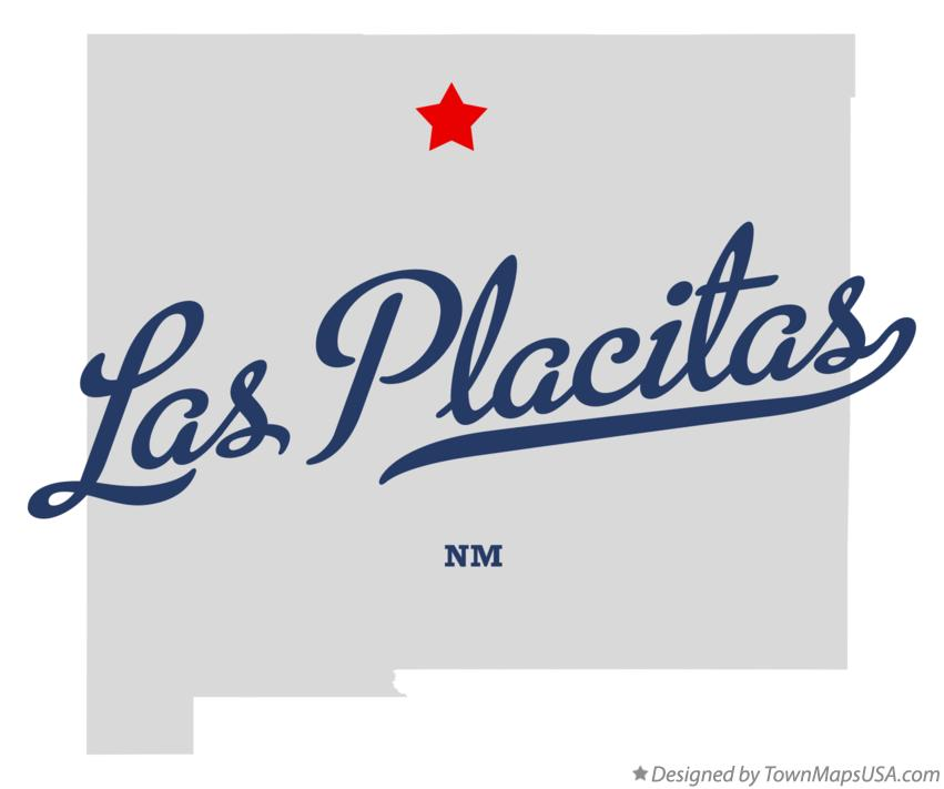 Map of Las Placitas New Mexico NM