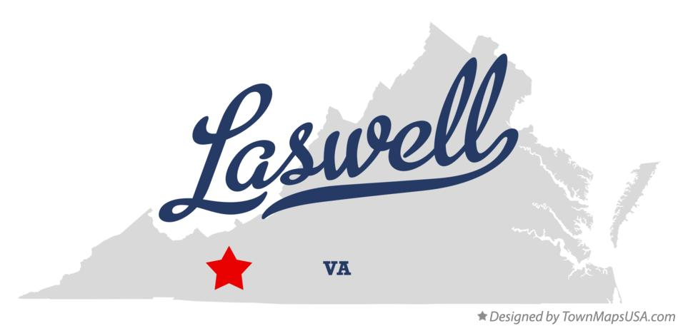 Map of Laswell Virginia VA