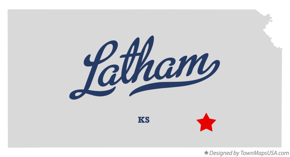 Map of Latham Kansas KS