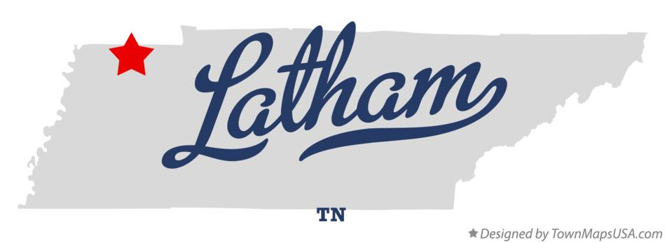 Map of Latham Tennessee TN