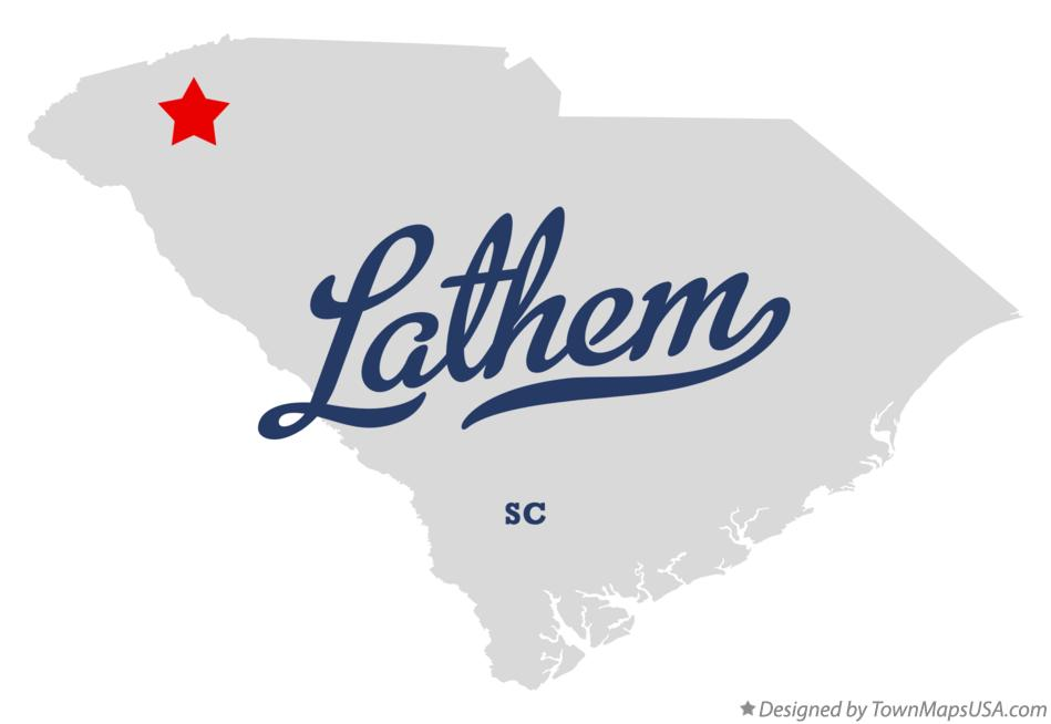 Map of Lathem South Carolina SC