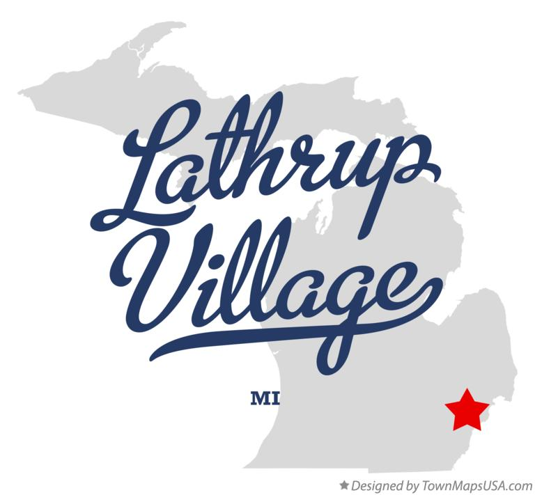 Map of Lathrup Village Michigan MI