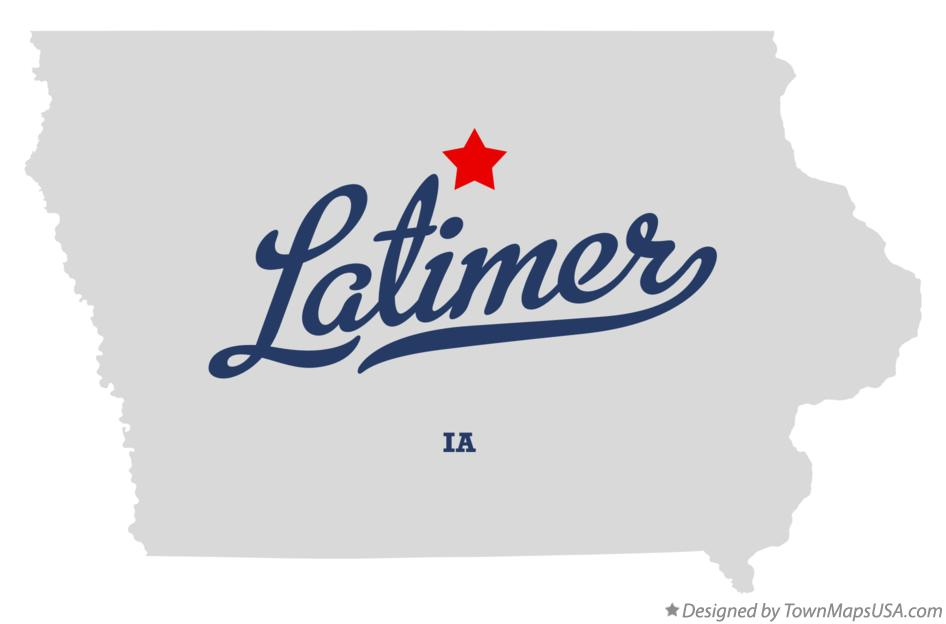 Map of Latimer Iowa IA