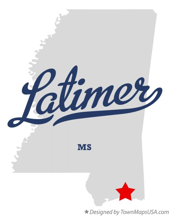 Map of Latimer Mississippi MS