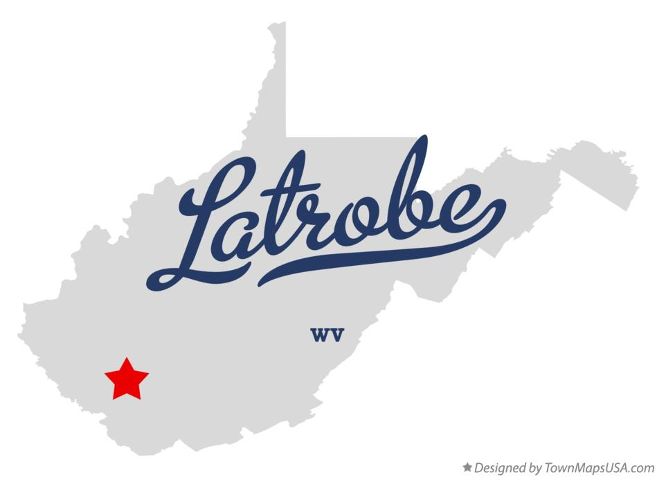 Map of Latrobe West Virginia WV
