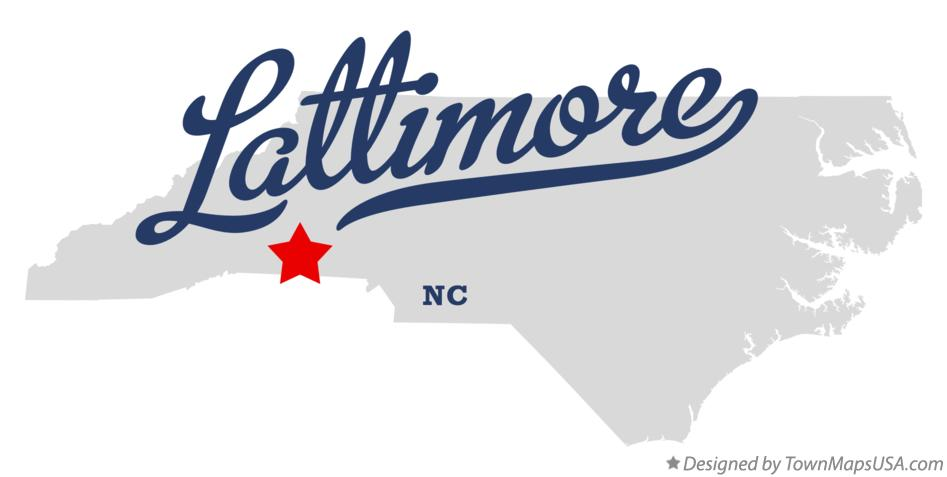 Map of Lattimore North Carolina NC