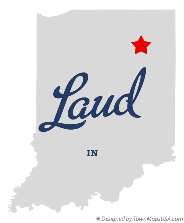 Map of Laud Indiana IN