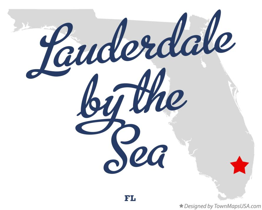 Map of Lauderdale-by-the-Sea Florida FL