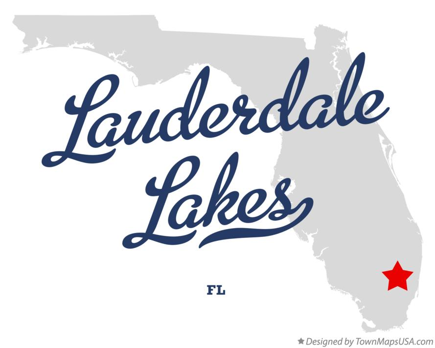 Map of Lauderdale Lakes Florida FL