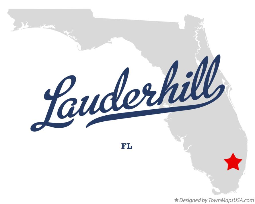 Map of Lauderhill Florida FL