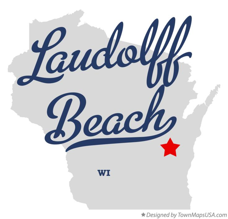 Map of Laudolff Beach Wisconsin WI