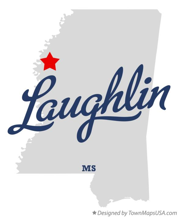 Map of Laughlin Mississippi MS