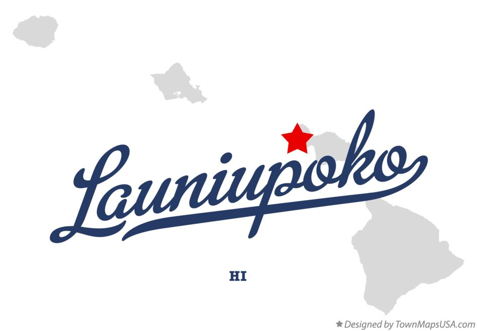 Map of Launiupoko Hawaii HI