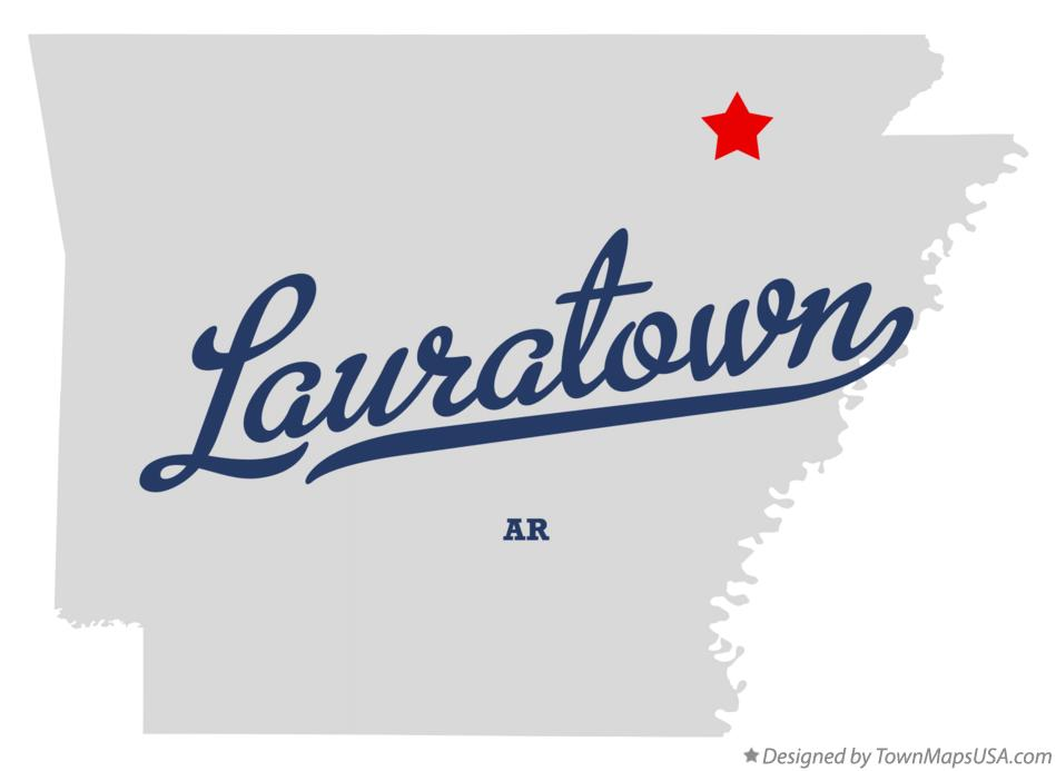 Map of Lauratown Arkansas AR