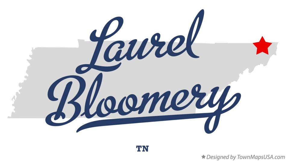 Map of Laurel Bloomery Tennessee TN