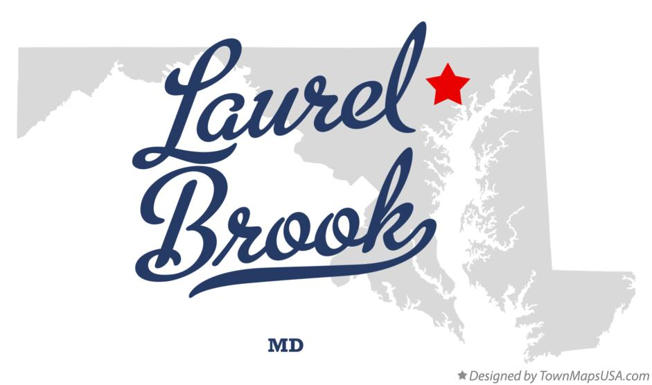 Map of Laurel Brook Maryland MD