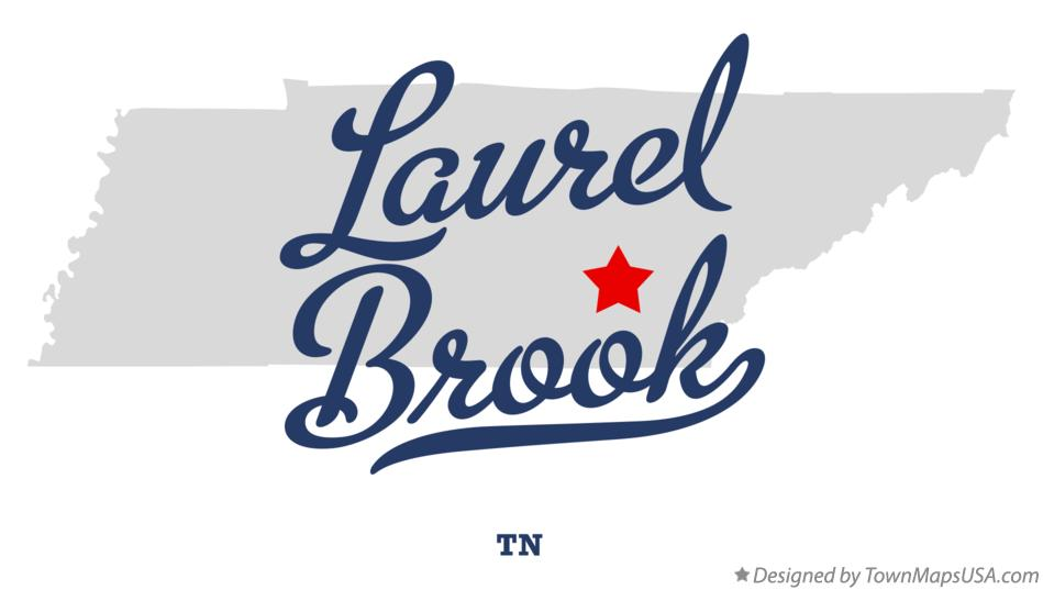 Map of Laurel Brook Tennessee TN