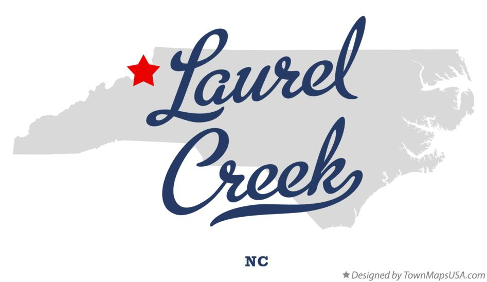 Map of Laurel Creek North Carolina NC