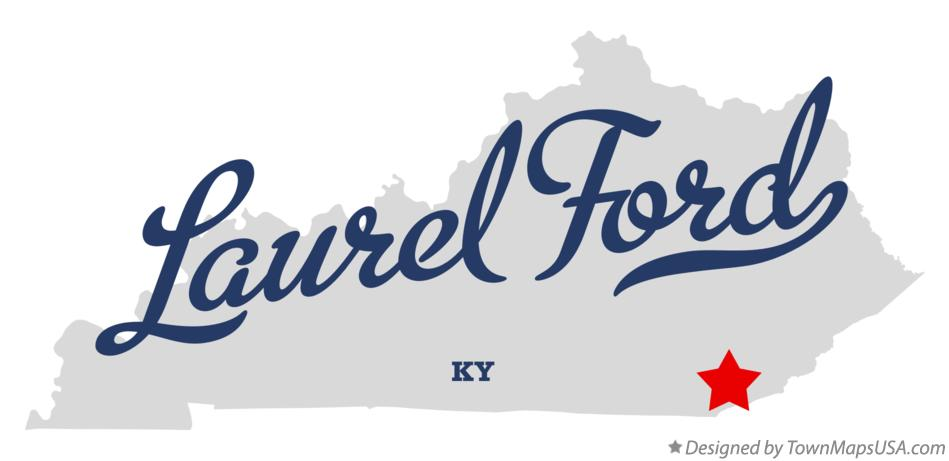 Map of Laurel Ford Kentucky KY