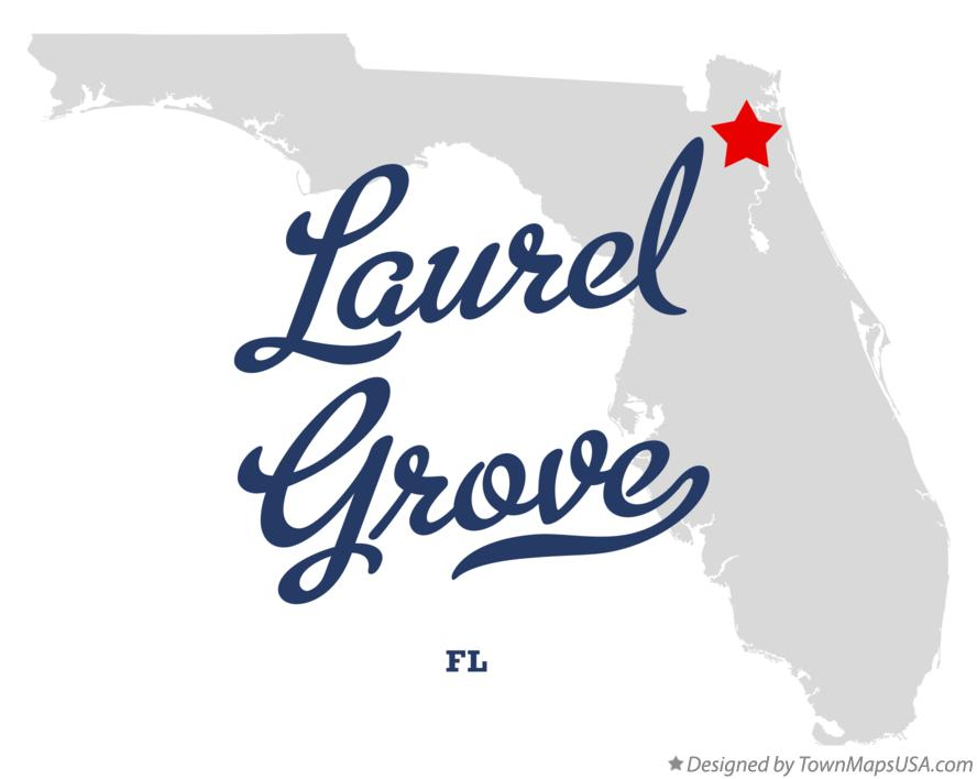 Map of Laurel Grove Florida FL