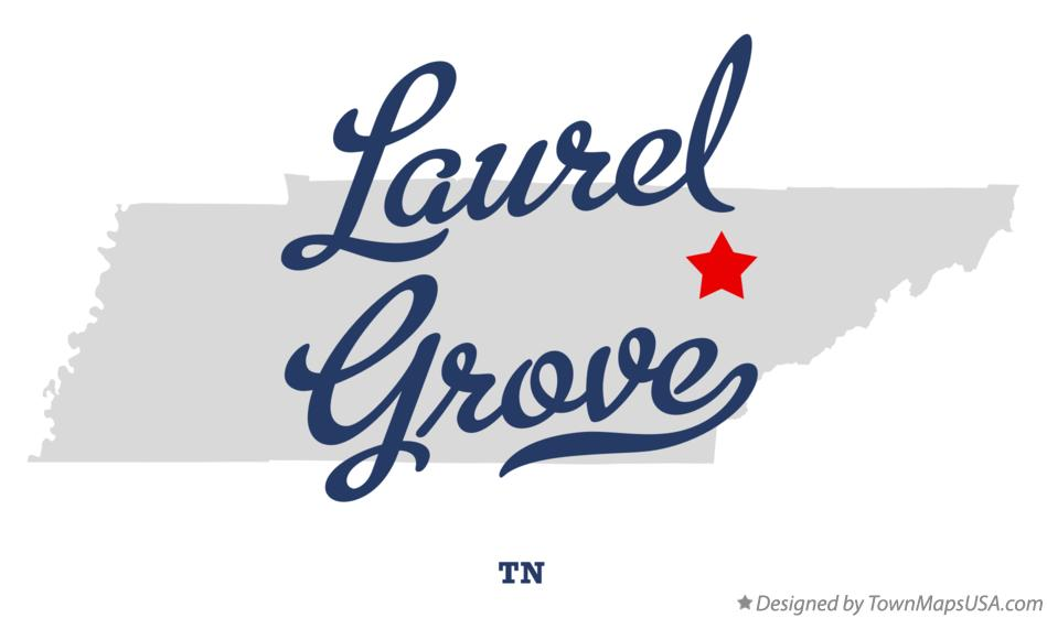 Map of Laurel Grove Tennessee TN