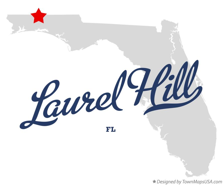 Map of Laurel Hill Florida FL