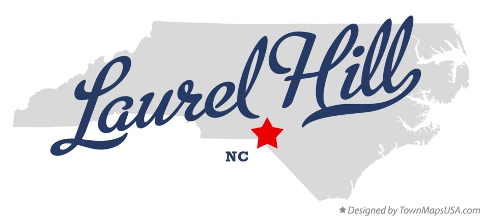 Map of Laurel Hill North Carolina NC