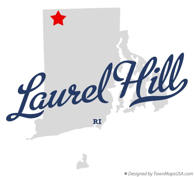 Map of Laurel Hill Rhode Island RI