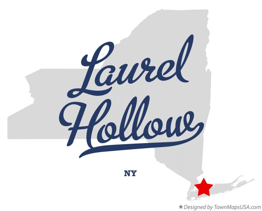 Map of Laurel Hollow New York NY