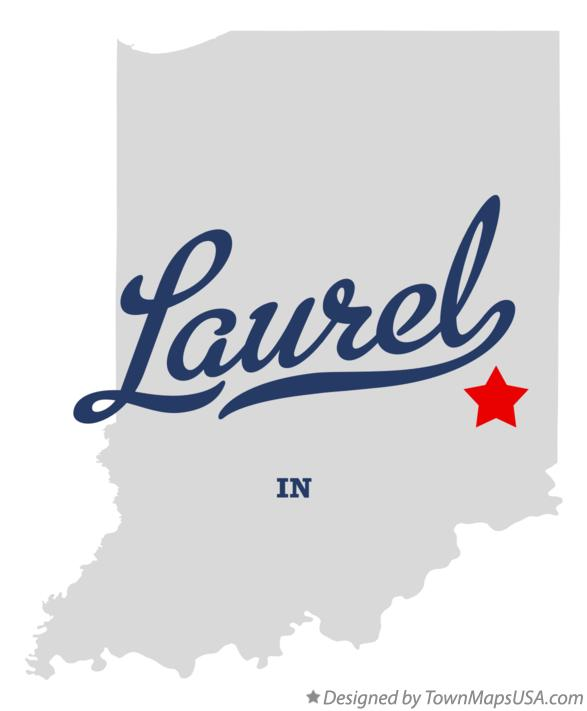 Map of Laurel Indiana IN
