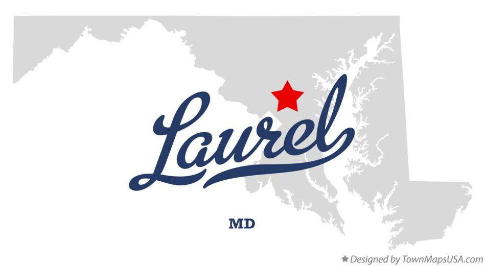 Map of Laurel Maryland MD