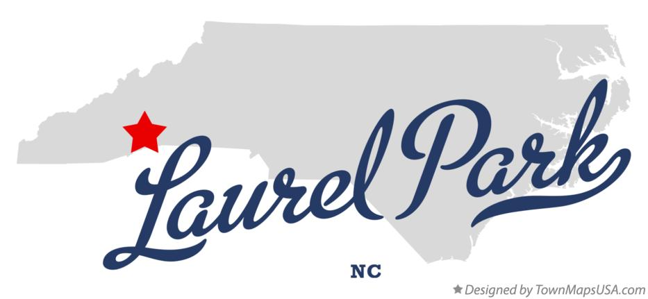 Map of Laurel Park North Carolina NC