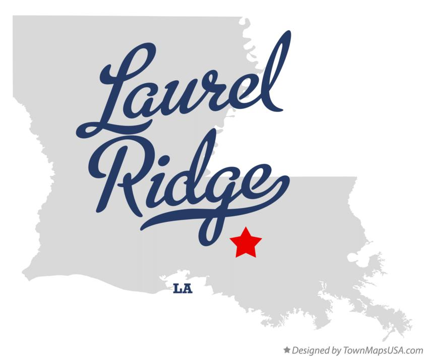 Map of Laurel Ridge Louisiana LA