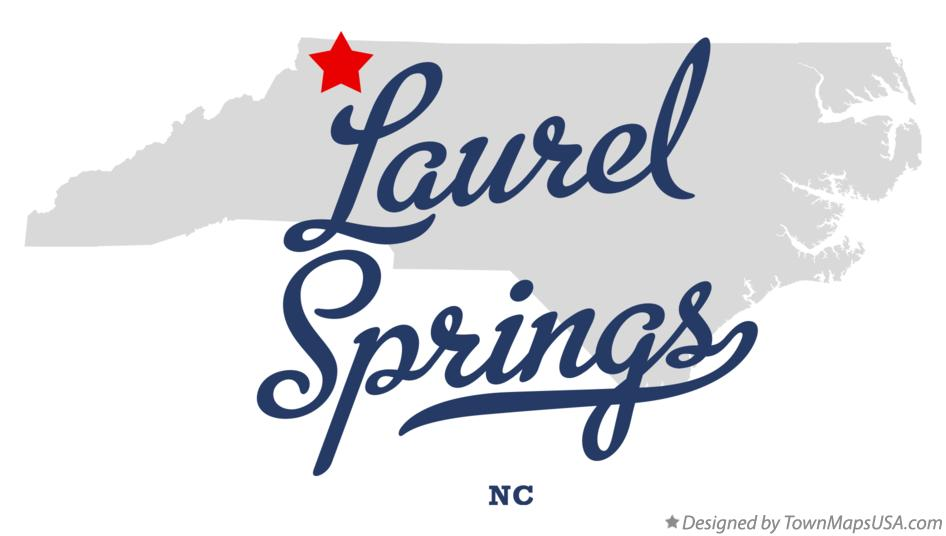 Map of Laurel Springs North Carolina NC