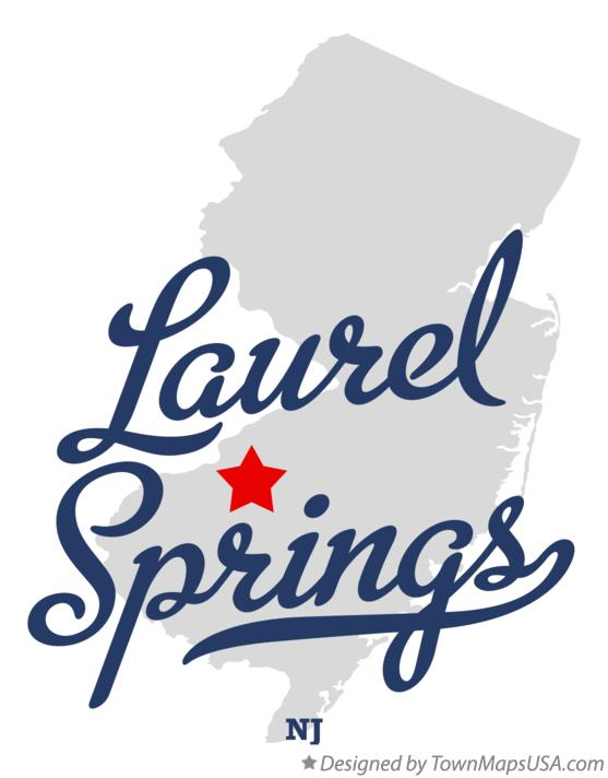 Map of Laurel Springs New Jersey NJ