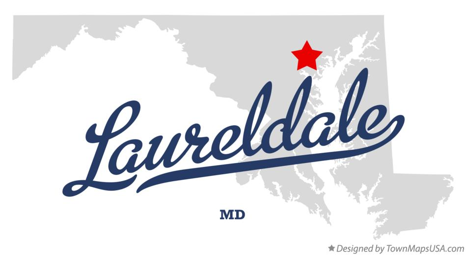 Map of Laureldale Maryland MD